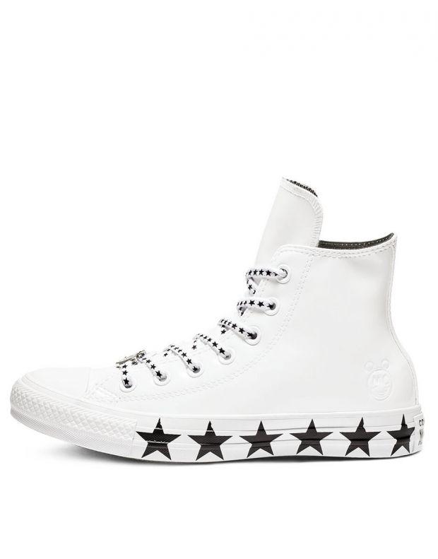CONVERSE x Miley Cyrus Chuck Taylor All Star Ox Hi White - 563719C - 1