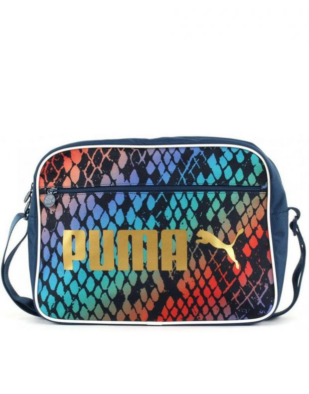 PUMA Campus Reporter Teal Snake Messenger Bag - 2