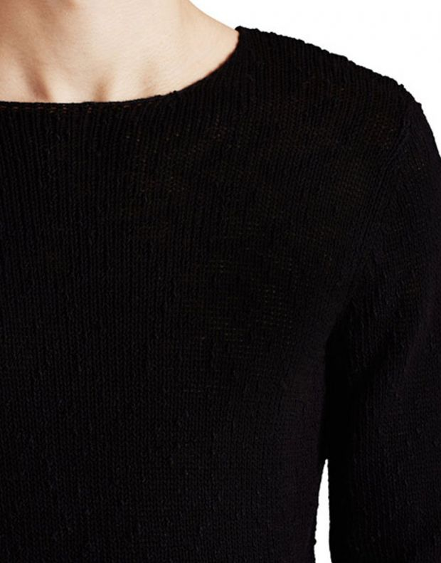 JACK&JONES Classic Knitted Pullover Black - 4