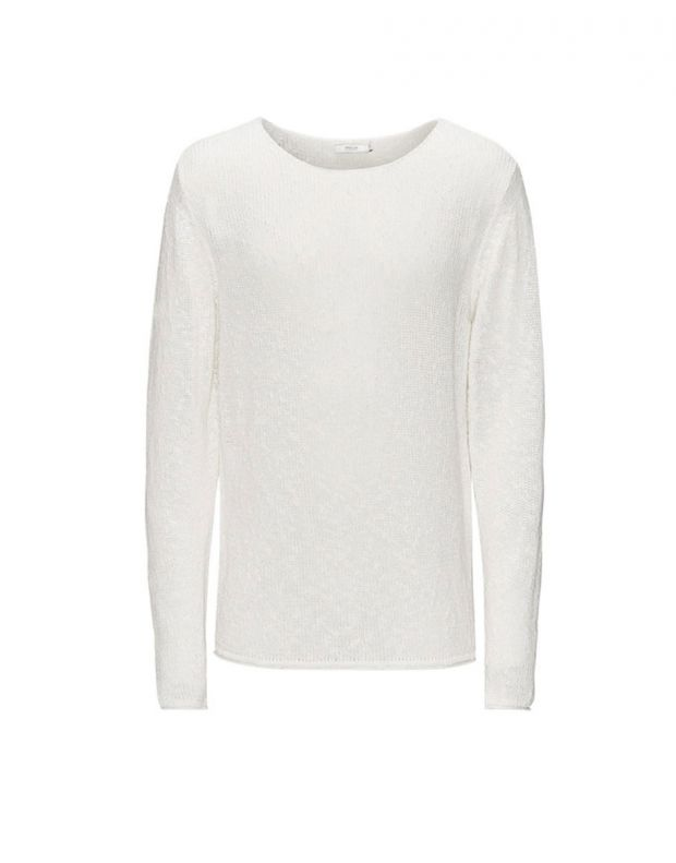 JACK&JONES Classic Knitted Pullover White - 2