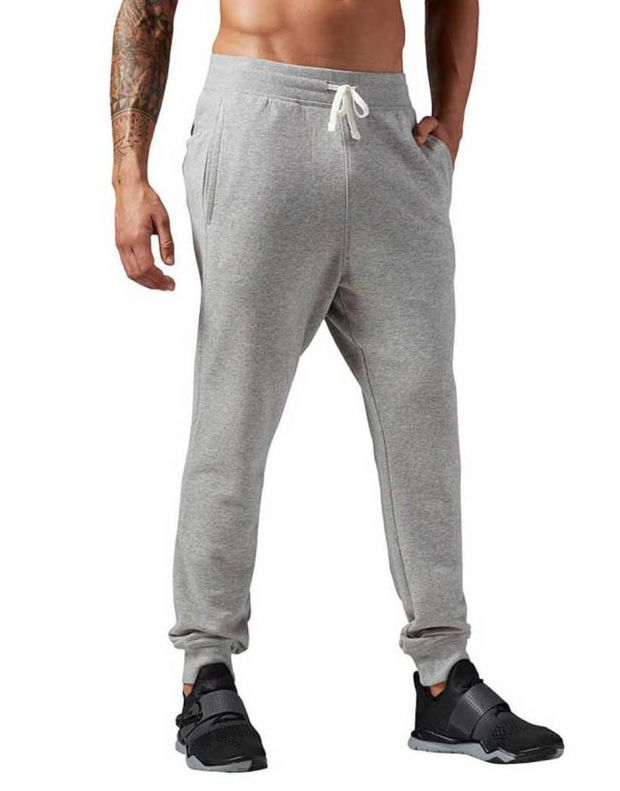 REEBOK Seasonal French Terry Cuff Pant Grey - 1