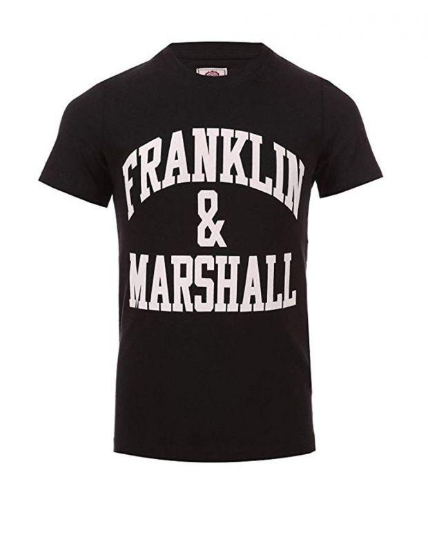 FRANKLIN AND MARSHALL CF Logo Tee Black - FMS0097-023 - 1