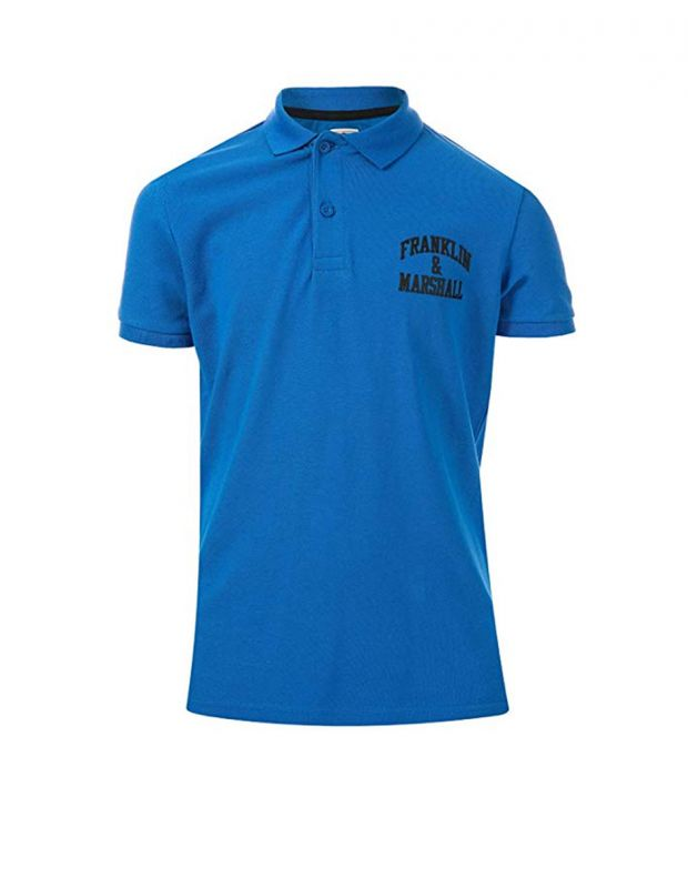 FRANKLIN AND MARSHALL Core Logo Polo Blue - 1