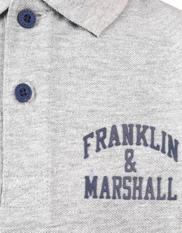 FRANKLIN AND MARSHALL Core Logo Polo Grey - FMS0091-G59 - 3