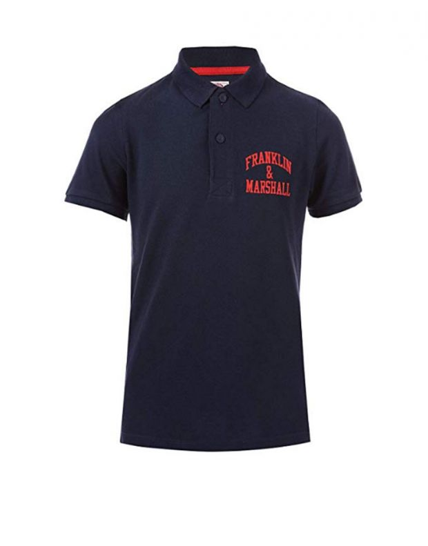 FRANKLIN AND MARSHALL Core Logo Polo Navy - FMS0091-178 - 1