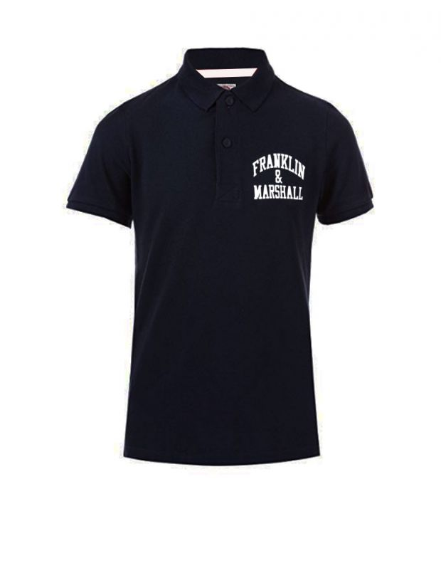 FRANKLIN AND MARSHALL Core Logo Polo Black - FMS0091-023 - 1