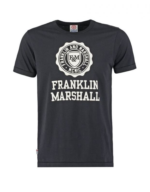 FRANKLIN AND MARSHALL Logo Tee Black - FMS0060-023 - 1
