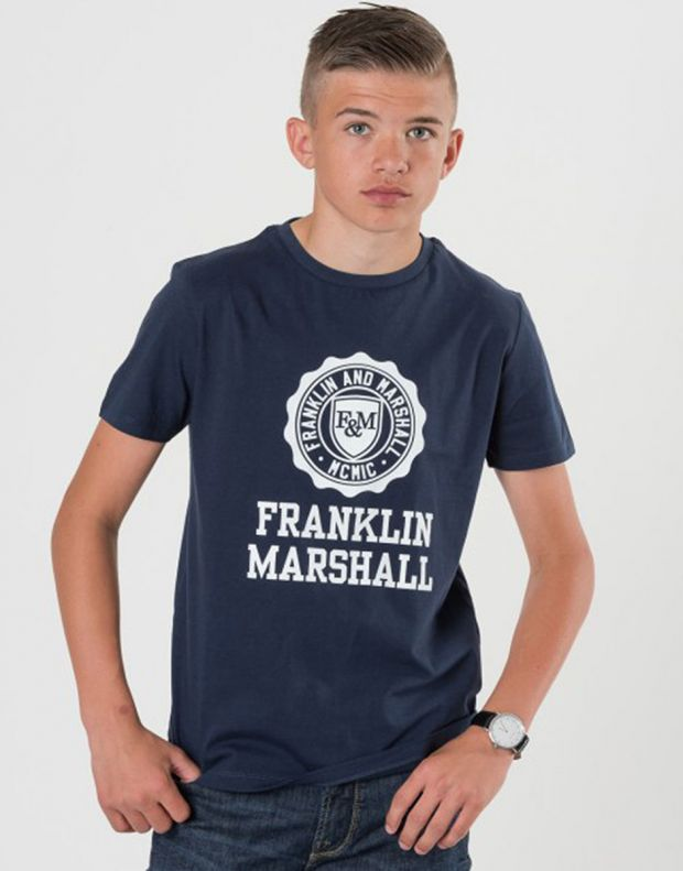 FRANKLIN AND MARSHALL Logo Tee Navy - 2