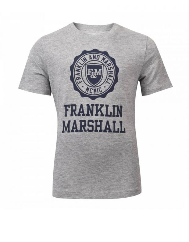 FRANKLIN AND MARSHALL Logo Tee Vintage Grey - FMS0060-G59 - 1