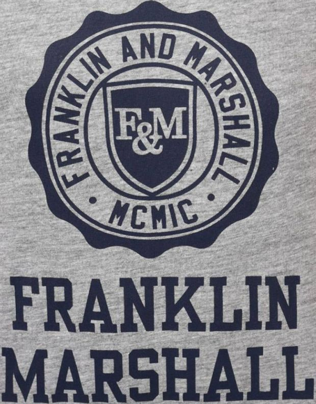FRANKLIN AND MARSHALL Logo Tee Vintage Grey - FMS0060-G59 - 3