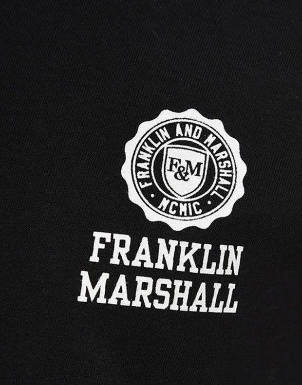 FRANKLIN AND MARSHALL Retro Logo Ringer Black - FMS0065-023 - 3