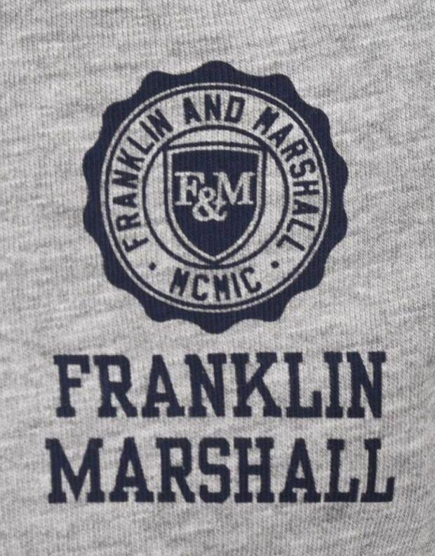 FRANKLIN AND MARSHALL Retro Logo Ringer Grey - 3