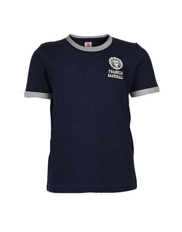 FRANKLIN AND MARSHALL Retro Logo Ringer Navy - 1