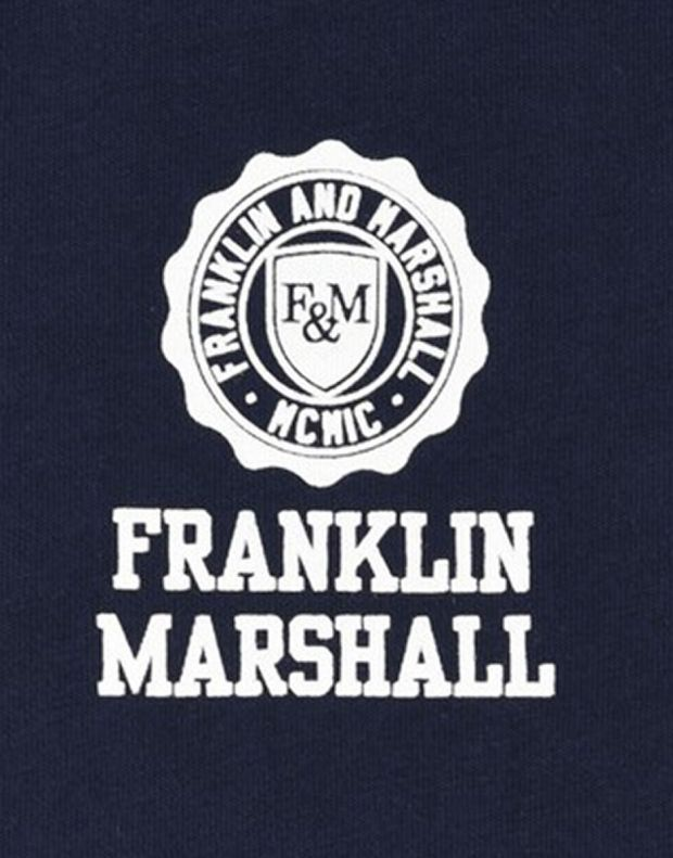 FRANKLIN AND MARSHALL Retro Logo Ringer Navy - 3