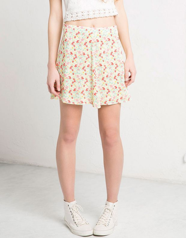BERSHKA Flower Skirt - 3