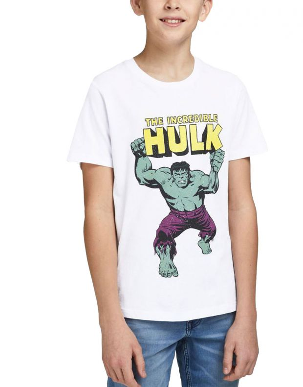 JACK&JONES Kids Hulk Tee White - 12194380/white - 1