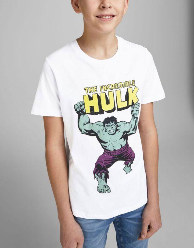 JACK&JONES Kids Hulk Tee White - 12194380/white - 3