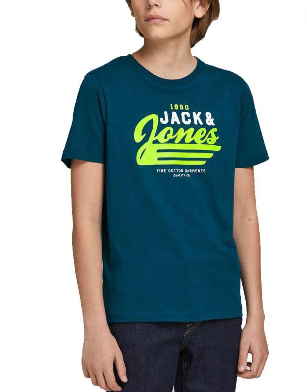 JACK&JONES Neon Logo Tee Blue - 12189195/blue - 1