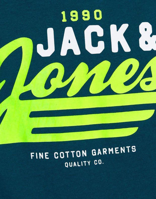 JACK&JONES Neon Logo Tee Blue - 12189195/blue - 4