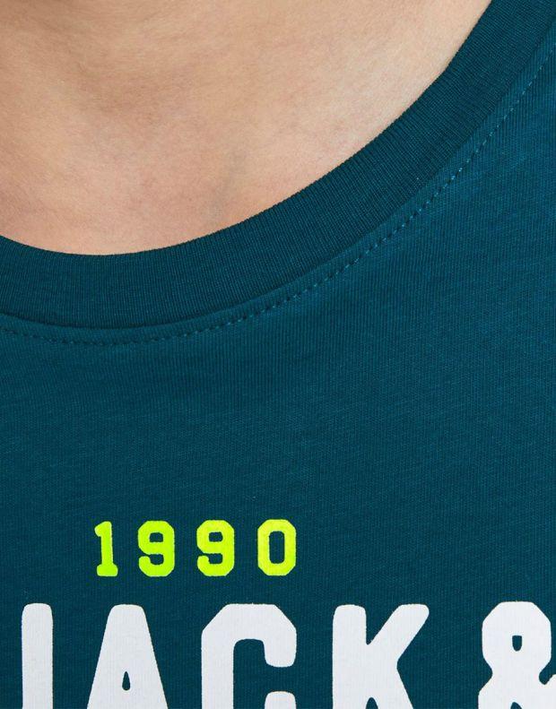 JACK&JONES Neon Logo Tee Blue - 12189195/blue - 5