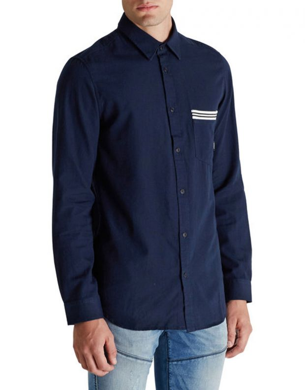 JACK&JONES Ribbed Detail Casual Shirt Blue - 2
