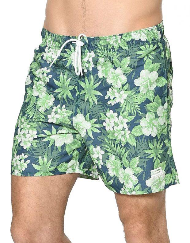 JACK&JONES Tropic Plant Shorts Green - 1