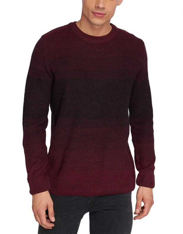 JACK&JONES Twin Knit Red - 12136830/red - 1