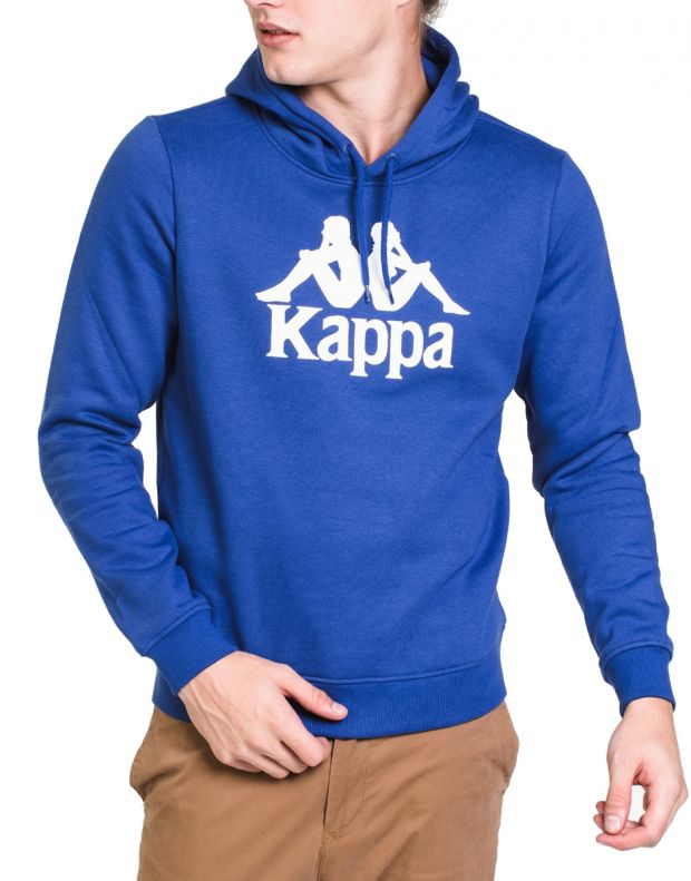 KAPPA Authentic Esmio Logo Hoody Blue - 303L0R0-938 - 1