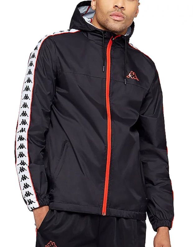 KAPPA Dawson Banda Jacket Black/Red - 303WA70-912 - 1