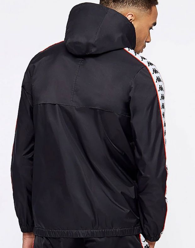 KAPPA Dawson Banda Jacket Black/Red - 303WA70-912 - 2