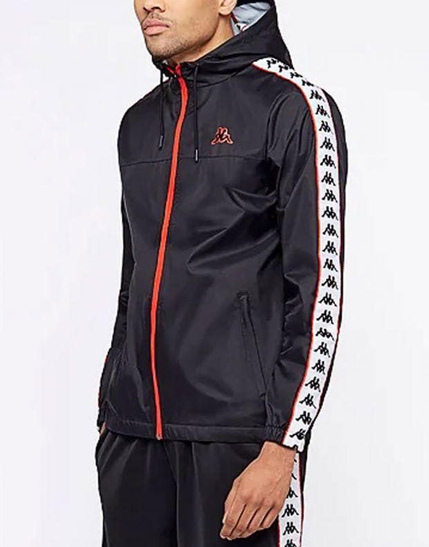 KAPPA Dawson Banda Jacket Black/Red - 303WA70-912 - 3