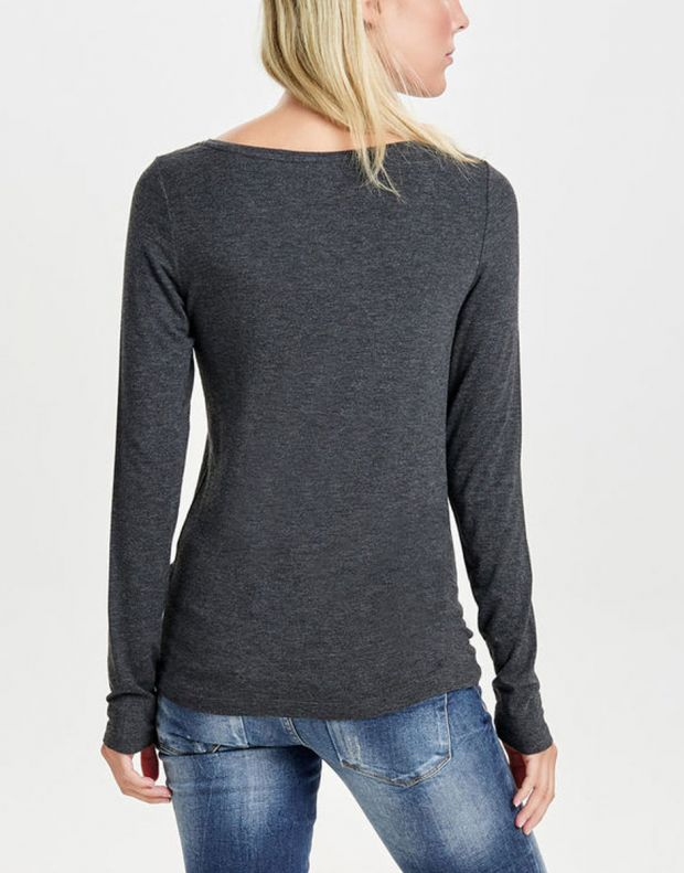 ONLY Knitted Long Sleeved Blouse Dark Grey - 3