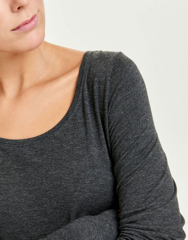 ONLY Knitted Long Sleeved Blouse Dark Grey - 6