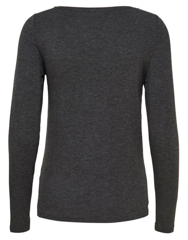 ONLY Knitted Long Sleeved Blouse Dark Grey - 4