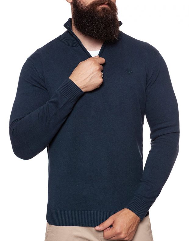 MUSTANG Troyer Pullover Navy - 1