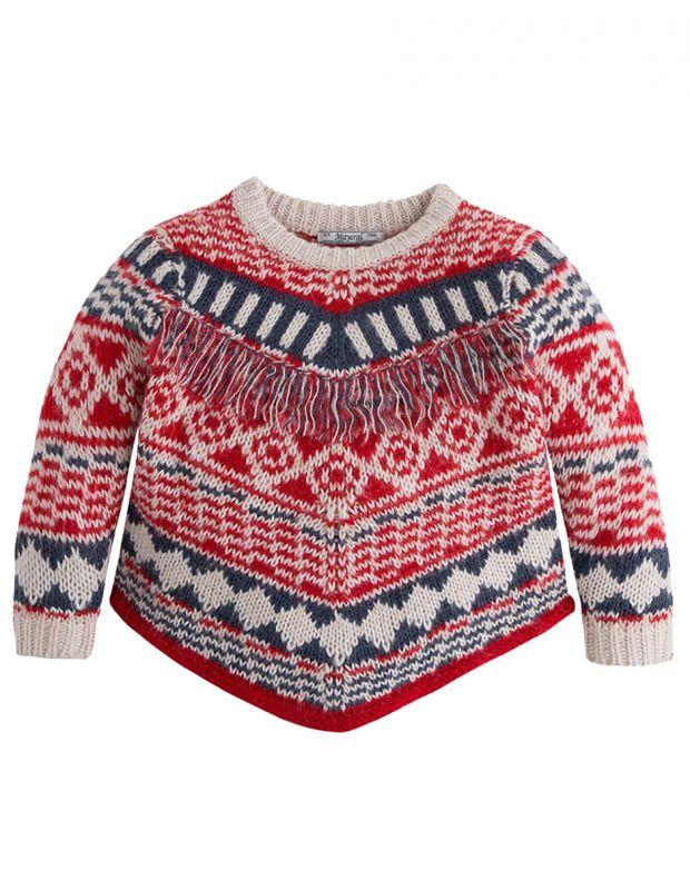 MAYORAL Fringe Knit Sweater - 1