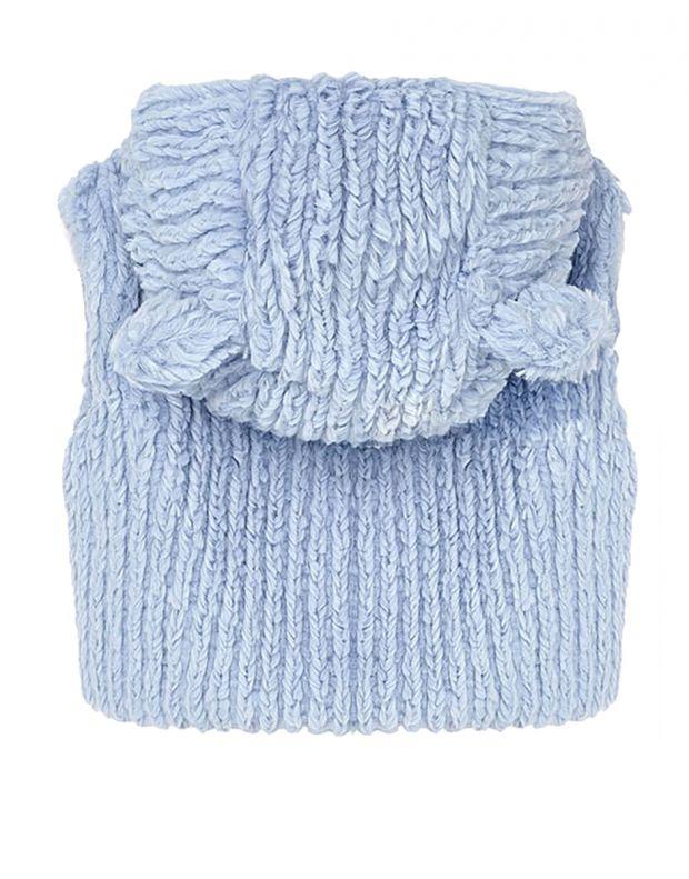 MAYORAL Fur Bear Ears Vest Blue - 2
