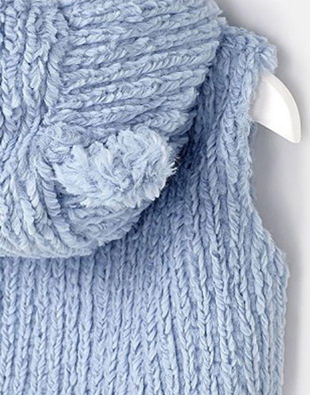MAYORAL Fur Bear Ears Vest Blue - 3