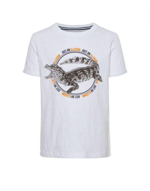NAME IT Crocodile Tee White - 13166176/white - 1