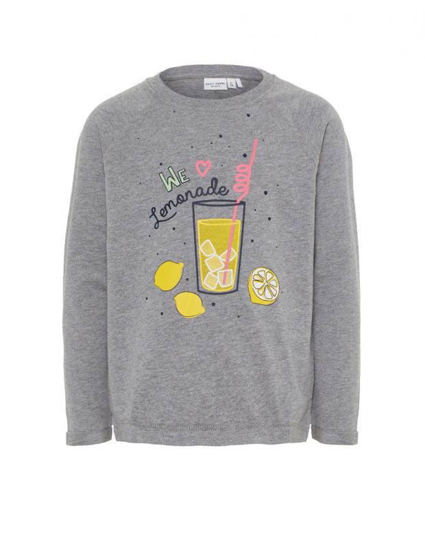 NAME IT Lemonade Long Sleeved Blouse Grey - 1