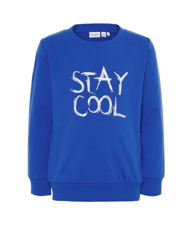 NAME IT Letter Printed Long Sleeved Blouse Blue - 1