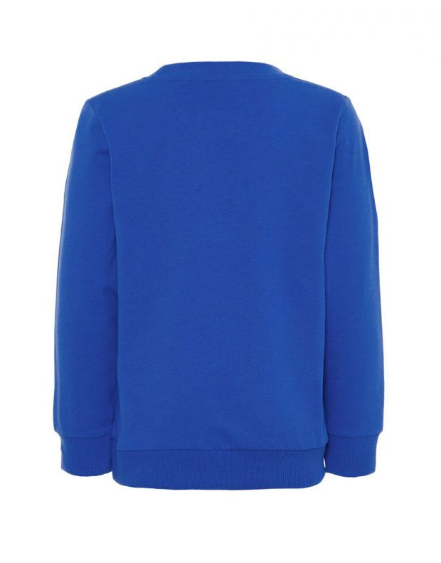NAME IT Letter Printed Long Sleeved Blouse Blue - 3