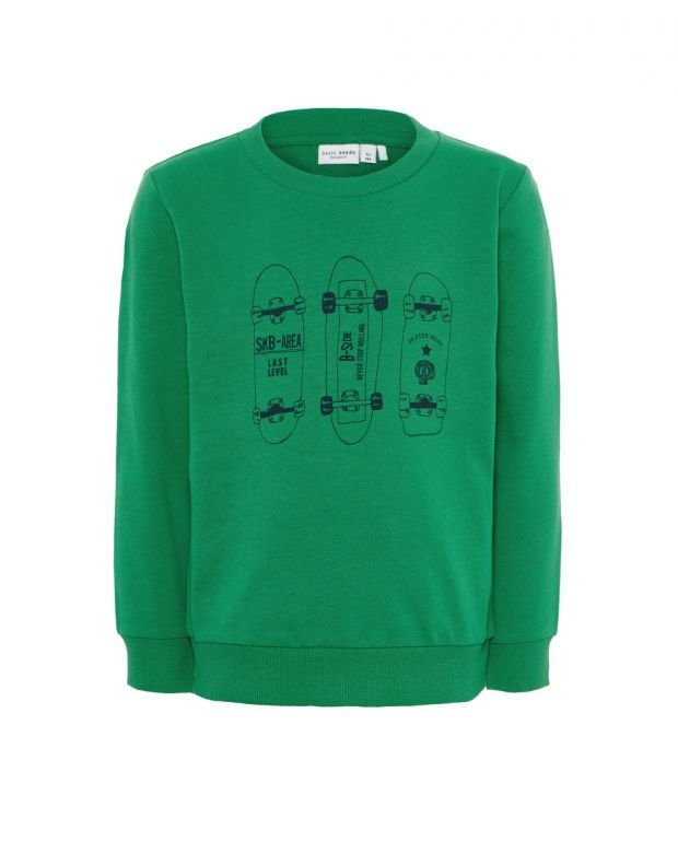 NAME IT Letter Printed Long Sleeved Blouse Green - 13162171/green - 1