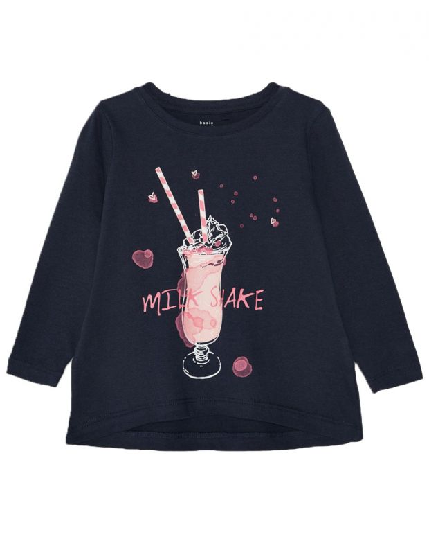 NAME IT Mini Loose Fit Long Sleeved Blouse Navy - 13162130/navy - 1