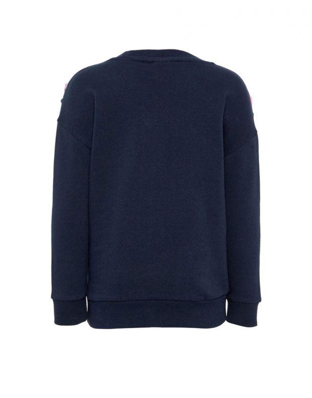 NAME IT Pom Pom Sweatshirt Sapphire - 13164795/sapphire - 2