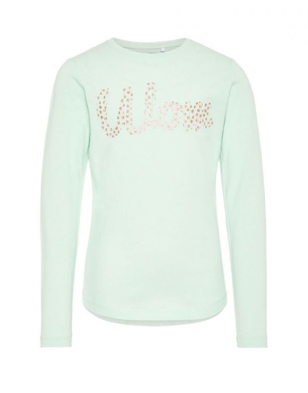 NAME IT Printed Long Sleeved Blouse Green - 1