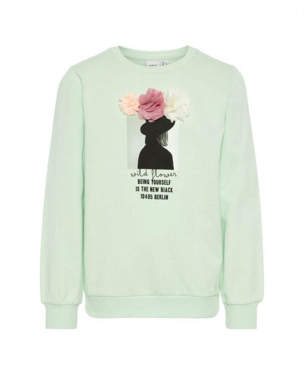 NAME IT Printed Sweatshirt Blouse Green - 13161284/spray - 1