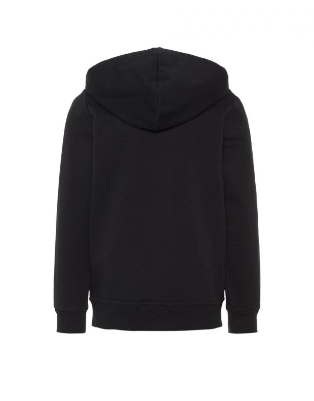 NAME IT Solid Coloured Zip-Up Hoodie Black - 13158554/black - 3
