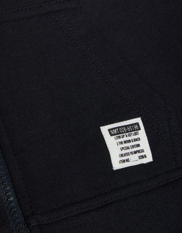 NAME IT Solid Coloured Zip-Up Hoodie Black - 13158554/black - 4