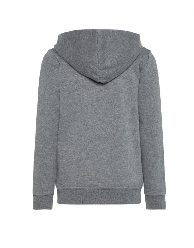 NAME IT Solid Coloured Zip-Up Hoodie Grey - 13158554/grey - 2